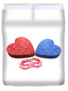 Kisses From The Heart Duvet Cover