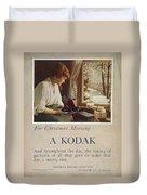 Kodak Advertisement, 1914 Duvet Cover