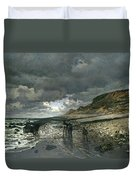 La Pointe De La Heve At Low Tide Duvet Cover