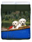 Labrador Retriever Puppies Duvet Cover