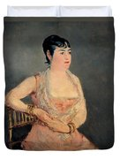 Lady In Pink Duvet Cover