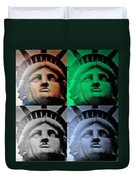 Lady Liberty In Quad Colors Duvet Cover
