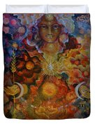Lady Of The Divine Current Duvet Cover