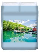 Lake Fontana Boats And Ramp In Great Smoky Mountains Nc Duvet Cover