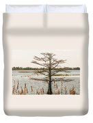 Lake Mattamuskeet Nature Trees And Lants In Spring Time  Duvet Cover