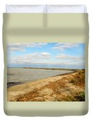 Lake Ontario Shoreline Duvet Cover