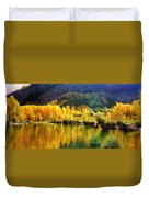 Lake Reflection In Fall  Duvet Cover