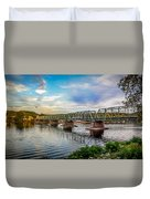 Lambertville From The Shores Of New Hope Duvet Cover