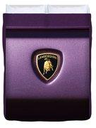 Lamborghini Diablo Se Roadster Emblem Duvet Cover
