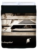 Lamborghini Rear View Emblem Duvet Cover