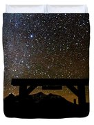 Last Dollar Gate And Milky Way Starry Duvet Cover