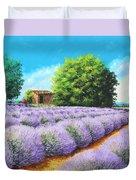 Lavender Lines Duvet Cover