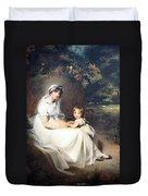 Lawrence's Lady Mary Templetown And Her Eldest Son Duvet Cover