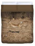 Leaping Impala Duvet Cover