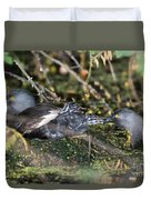 Least Grebe Duvet Cover
