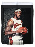 Lebron James Duvet Cover