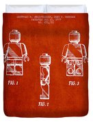 Lego Toy Figure Patent - Red Duvet Cover