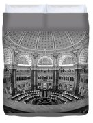 Library Of Congress Main Reading Room Duvet Cover by Susan Candelario