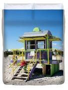 Lifeguard Station Duvet Cover