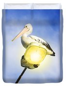 Light Pelican Duvet Cover