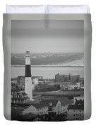 Lighthouse - Atlantic City Duvet Cover