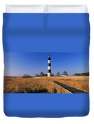 Lighthouse In A Field, Bodie Island Duvet Cover