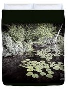 Lily Pads On Dark Water Duvet Cover
