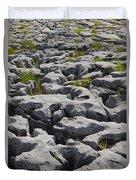 Limestone In The Burren Duvet Cover