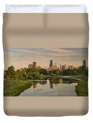 Lincoln Park Lagoon Chicago Duvet Cover