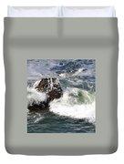 Linda Mar Beach Surf Duvet Cover
