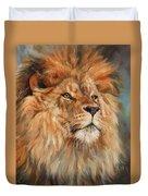 Lion Duvet Cover by David Stribbling