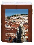Lisbon Cityscape Duvet Cover
