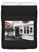 Little House In Norway Duvet Cover