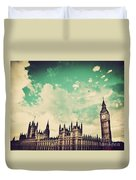 London Uk Big Ben The Palace Of Westminster Duvet Cover