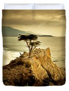 Lone Cypress Detail 2 Duvet Cover