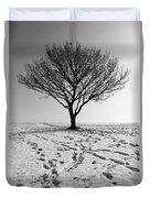 Lone Tree Winter Duvet Cover