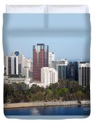 Long Beach Skyline Duvet Cover