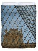 Louvre In Paris France Duvet Cover