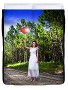 Love Heart Balloons  Duvet Cover