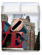 Love In The Park Duvet Cover