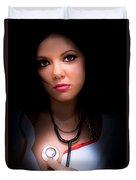 Love Struck Stethoscope Nurse Duvet Cover