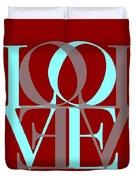 Love Typography Duvet Cover