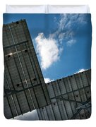 Low Angle View Of Solar Panels Duvet Cover