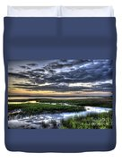Cloud Reflections Over The Marsh Duvet Cover