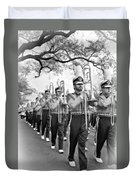 Lsu Marching Band Vignette Duvet Cover