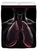 Lung Anatomy Duvet Cover