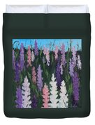 Lupines - Art By Bill Tomsa Duvet Cover