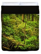 Lush Temperate Rainforest Duvet Cover