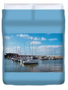 Lyme Regis Harbour 2 Duvet Cover