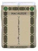 Macaleese Written In Ogham Duvet Cover